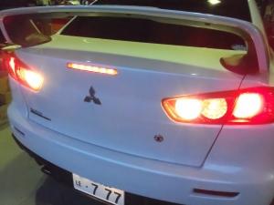 ランエボX ストップ、テール、バック球LED